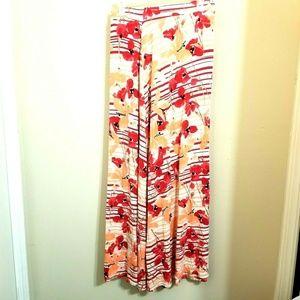 Lane Bryant Floral Maxi Skirt Size 22/24 A15E